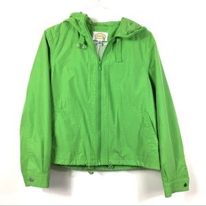 Talbots Kelly green windbreaker size extra large